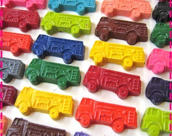 FIRE TRUCKS Fire ENGINES Crayons Birthday Favors, Kids' Party Pack of (20),Children's Party Favors, Eco-Friendly Coloring Toys Asst Colors