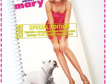 There's SOMETHING AbOUT MARY VHS Movie Video Original Recycled Notebook / Upcycled Journal - Spiral Bound and Eco Friendly - Circa 1998