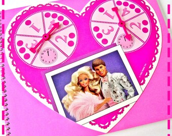 BARBIE DREAM DATE Board Game Recycled Notebook Game / Upcycled Journal, O O A K, Eco-Friendly, Vintage Circa 1992