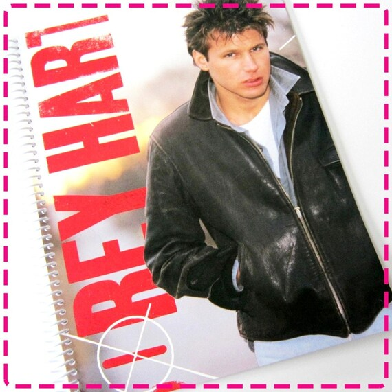 COREY HART Boy in the Box - Recycled / Upcycled Record Album Cover Journal Notebook - Eco Friendly - Vintage Circa 1985