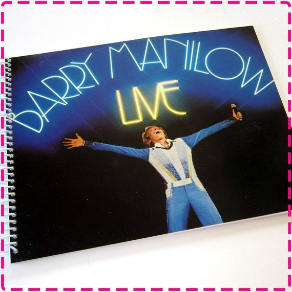 BARRY MANILOW LIVE Recycled / Upcycled Retro Record Album ...