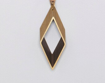 Cut Out Geometric Shape Vintage Chain Necklace // Perfect Holiday Gift for Minimalist // Unique Gift for Her