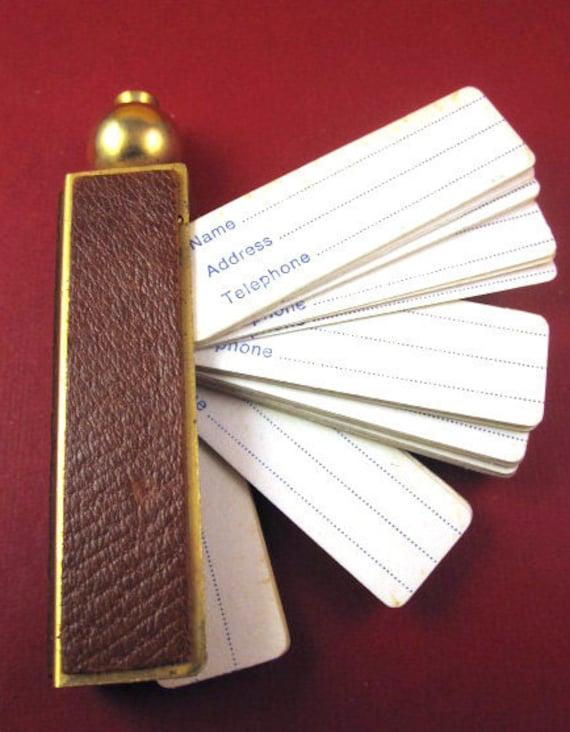 Vintage 1950s Italian Leather Address Book Fob