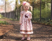 Chocolate Bunny peasant dress by tld