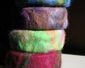 Custom felted soap, 3 bars