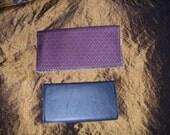Purple Rough Stuff Checkbook Wallet