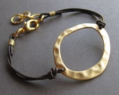 Handcrafted Natural Hoop Cuff - Golden - Free Shipping