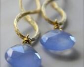 FALL SALE Chalcedony Gemstone Drop Earrings