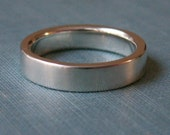 Wedding Ring - Men's single band - Satin or Hammered Finish FREE ENGRAVING