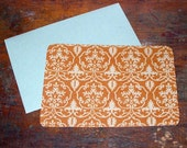 damask 6 SCREENPRINTED FLAT NOTECARDS