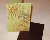 SPIROGRAPH letterpress card (set of six)