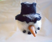 CHRISTMAS ORNAMENT Needlefelted Snowman