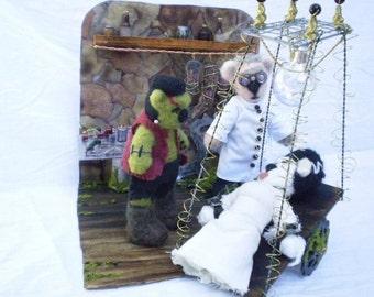 HALLOWEEN Bride of Frankenbeary Diorama on SALE