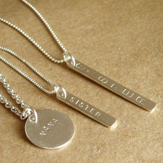 Personalized Sterling Tag Pendant