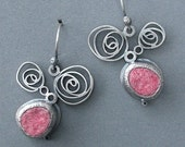 swivel and swirl felt earrings