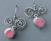 swivel and swirl felt earrings