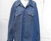Vintage Denim Jacket Shirt Wrangler XL XXL