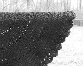 Black Lace Baby Blanket Crochet Round