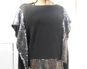 Avant Garde Black Sweater Sequins Medium Large M L