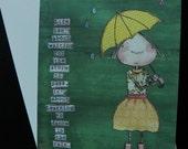 blank note card - dance in the rain