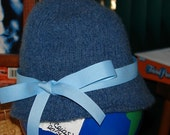 Knitted Blue Cloche