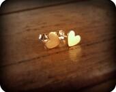 Tiny hearts - earrings
