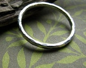 Hammered ring - recycled fine silver ring