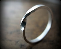 Mobius ring - recycled sterling silver ring