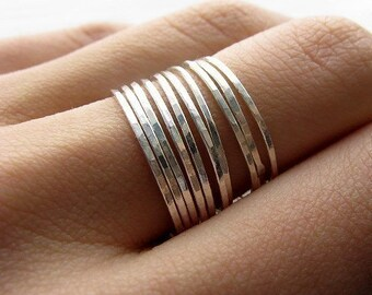 Stacking skinnies - 12 rings