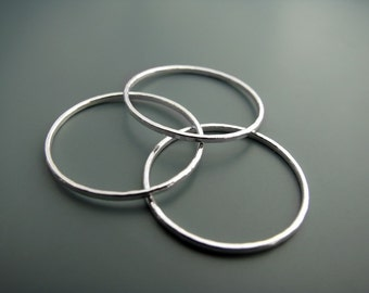 Skinny trio - stacking rings
