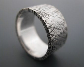 Textured - sterling silver ring
