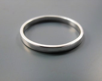 Simple - recycled sterling silver ring