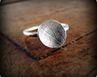Hydrangea petal ring - sterling silver ring