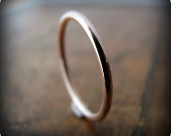 Recycled 14K rose gold ring - 1.6mm stacking ring