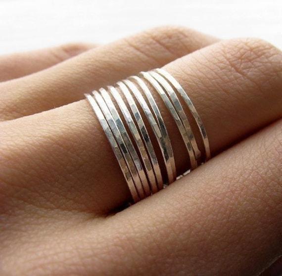 Stacking skinnies - 12 rings