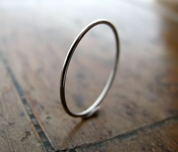 Platinum ring - extra skinny stacking ring