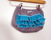 Two Tone - ruffle diaper covers - team colors (choose your colors)