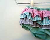 Mermaid Princess - Wrap around ruffle diaper covers