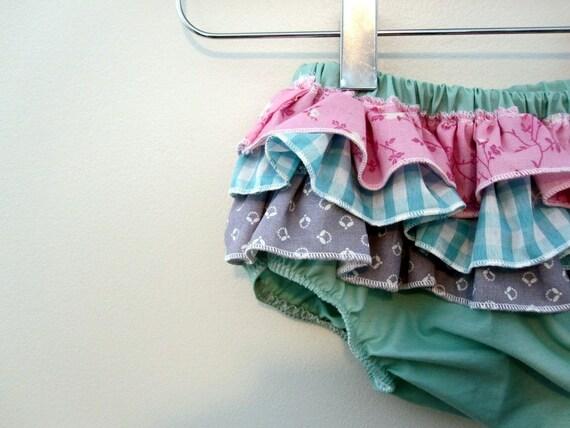 Mermaid Princess - Wrap around ruffle diaper covers