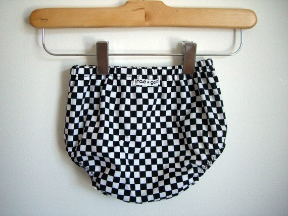 Black and White Checkers  - Diaper Covers -  Girl - Boy - Photo Prop - Bottoms