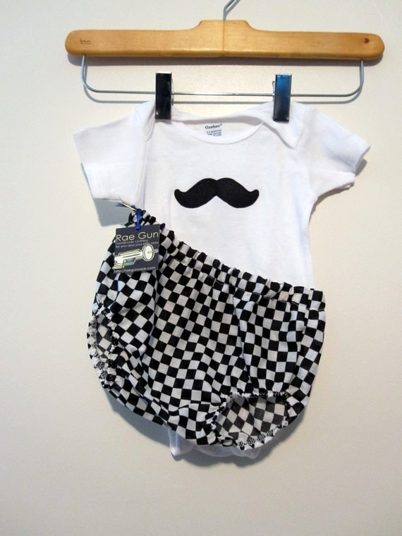 Cheeky Mustache - Onesie Gift Set - Baby Boy - Funny - Diaper Covers