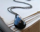 Eau Noir Necklace Onyx and antiqued brass