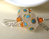 Tequila Sunrise Lampwork earrings