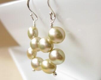 SALE Forest Myst Pearl earrings