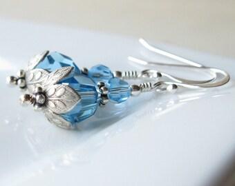 MARCH BirthStones lotus earrings