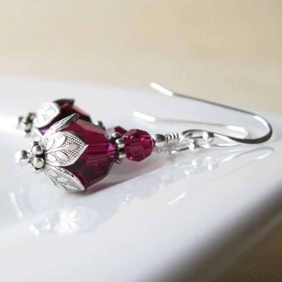 JULY BirthStones lotus earrings