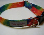 Punky Woofster: Peace - Tie Dye Pattern Dog Collar (Free Shipping)