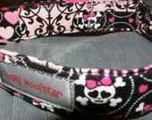 Girly Punky -Skulls, Flowers, Hearts - Collar - By Punky Woofster