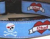 Stud Dog - Jolly Roger and Heart Stud - Free Shipping