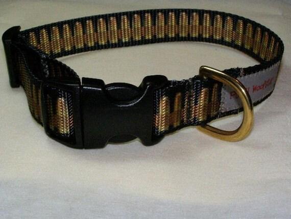 Punky Woofster: Capped - Bullet Bandolier Dog Collar (Medium)